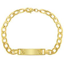 "18k Gold Plated Tag ID Identification Childs Bracelet Girls Boys Unisex 6"""