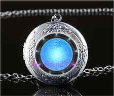 Atlantis Stargate Photo Cabochon Glass Tibet Silver Locket Pendant Necklace