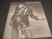 LENNY KRAVITZ finger snapping IT AIN'T OVER TIL IT'S OVER 1991 Promo Poster Ad