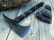 "ZombIe Killer TOMAHAWK Black Tactical Hiking 14.25"" Over 7"" SS Hatchet Axe"