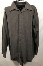 Greg Norman  Men's striped  Button-Up Front  Long Sleeve Size XXL 100% Cotton