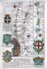 MIDDLESEX  LONDON  BUCKINGHAMSHIRE   BY EMANUEL BOWEN GENUINE ANTIQUE c1720