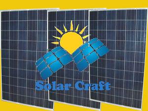 Panneau solaire Énergie renouvelable 3x260 Wat 24V monocristallin photovoltaïque