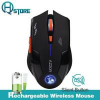 2400dpi Silent Charged Wireless Optical Mouse Mute Button Noiseless Mice