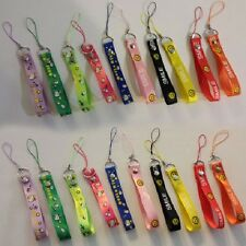 12 Pcs Smile Face Mini Lanyard Hand Lanyard for cellphones, mp3, party favors