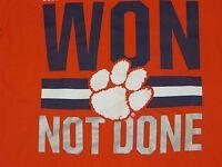 "NCAA Clemson Tigers ""Won Not Done"" Nike Orange T-Shirt XL/X-Large NWT"