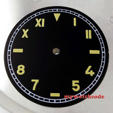 37.5mm black california dial  fit 6497 seagull movement mens Watch  D16
