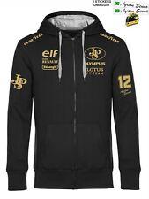 Felpa ZIP Cappuccio LOTUS Ayrton Racing Team replica corse GP scuderia+ stickers