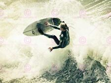 SPORT PHOTO SURFING SURF SURFER SPRAY WAVE OCEAN SEA ART PRINT POSTER MP4031A