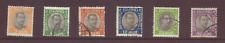 Iceland, Official, part set to 50a violet & grey-black ex SG O40-46, FU, 1920-30