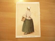 LITHOGRAPHIE ORIGINALE 1850 COSTUME DE SEMAINE  FEMME EN  NORMANDIE