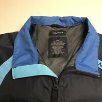 Nautica Men's Wind Breaker Soft Shell Full Zip Jacket, Black/Blue/Teal, XL