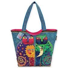 Laurel Burch - Shoulder Tote Bag - Celestial Felines - NWT