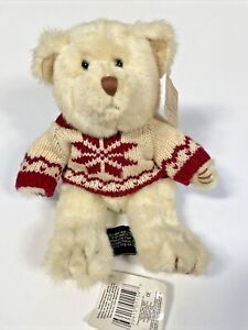 Russ teddy bear blast from the past jointed white snowflake sweater NWT Winter