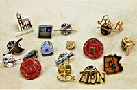 Vintage Lot Lapel Pins and Pinbacks 16 pieces Religious Scouting Travel Souvenir