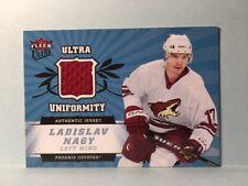 LADISLAV NAGY Coyotes 2006-07 NHL Fleer Ultra UNIFORMITY JERSEY RELIC  ExMt