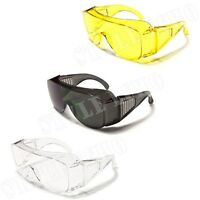 Safety Goggles Eye Protection Glasses Impact Resistant Black Clear Yellow
