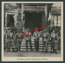 Graf Alfred v. Soden Schutztruppe Unteroffiziere Peking Boxeraufstand China 1900