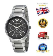 NEW Emporio Armani AR2460 Men's Classic Stainless Steel Black Chronograph Watch
