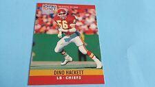 1990 PRO SET FOOTBALL DINO HACKETT CARD #143***KANSAS CITY CHIEFS***