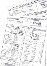 1955 1956 1957 FORD THUNDERBIRD 55 56 57 BODY PART NUMBERS LIST CRASH SHEETS! RE