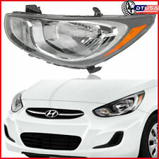 NEW DRIVER LEFT CHROME AMBER SIDE HEADLIGHT LAMP for HYUNDAI ACCENT 12-14