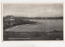 Fistral Bay & Pentire Newquay Cornwall 1955 RP Postcard 900a
