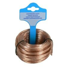 (0,98€/1m) Lautsprecherkabel transp 2x0.75mm²5m Ring Big Light