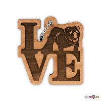 I Love My American Bulldog Keychain key chain keys charm bully