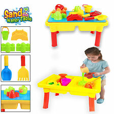 2 IN 1 KIDS SAND WATER BEACH LID TABLE SANDPIT ACTIVITY FUN PLAYING ACCESSORIES
