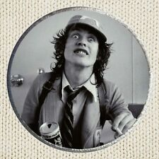 Angus Young Patch Picture Embroidered Border Hard Rock Band AC DC Brian Johnson