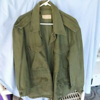 Vintage Sateen OG 107 Coat Medium Vietnam US Military Field Combat Jacket 1958