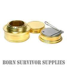 ESBIT ALCOHOL BURNER - Brass Meths Spirit Stove Camping Survival Trangia Cooker