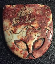 "Rare Pre-Columbian  Stone  ""Alien"" Pendant, Mexico,(Ojuelos)"