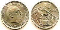 Spain-Estado Español. 50 Pesetas 1957*58. Madrid. SC/UNC. Niquel 12,5 g.