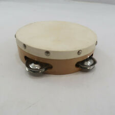 "Hand Held Wood Tambourine 6"" Drum Metal Percussion Musical made in Pakistan"