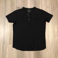 wings + horns Mens Large Black S/S Cotton T Shirt
