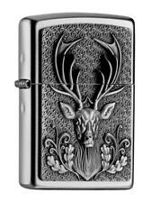 "ZIPPO SATIN ""DEER HEAD"" LIGHTER / 2004736 * NEW in BOX * HUNTING HUNTER"