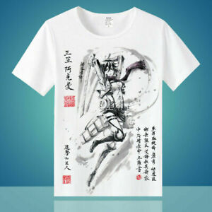 Anime Attack on Titan Mikasa Cosplay Ink Print Short Sleeve T-shirt Unisex Tee