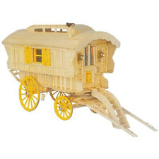 Hobby's Match Craft Ledge Caravan Model Matchstick Kit Accessories Included