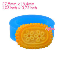 QEB120 27.5mm Butter Cookie Silicone Mold Biscuit Mold Candy Chocolate Resin