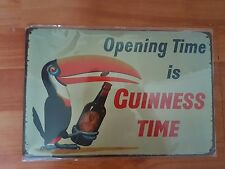 BRAND NEW Guinness Toucan Metal Sign -UK Seller