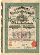 """""""Queen Elizabeth"""" Banco Hipotecario De Credito Territorial Mexicano, S.A."""