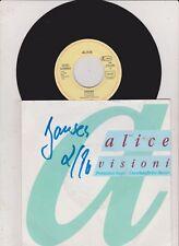"Alice - Visioni (7"",Promoition  Single) Vinyl nm"
