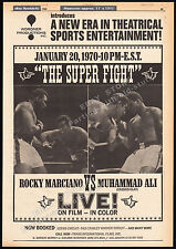 "MUHAMMAD ALI_vs_ROCKY MARCIANO__Original 1969 ""Super Fight"" print AD / poster"