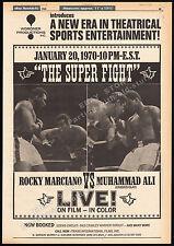 """MUHAMMAD ALI_vs_ROCKY MARCIANO__Original 1969 """"Super Fight"""" print AD / poster"""