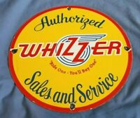 WHIZZER BIKE MOTORCYCLE PORCELAIN GAS VINTAGE STYLE SERVICE SERVICE STATION SIGN