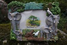 NA0803  FIGURINE  STATUETTE CADRE  PHOTO  ELEPHANT JUNGLE