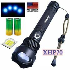 350000 Lumens Zoomable XH-P70 LED USB Rechargeable Flashlight Focus Bright Torch