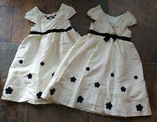 NWT Sz 9 Gymboree HOLIDAY CELEBRATION Winter White Silk Dress Black Velvet Hair